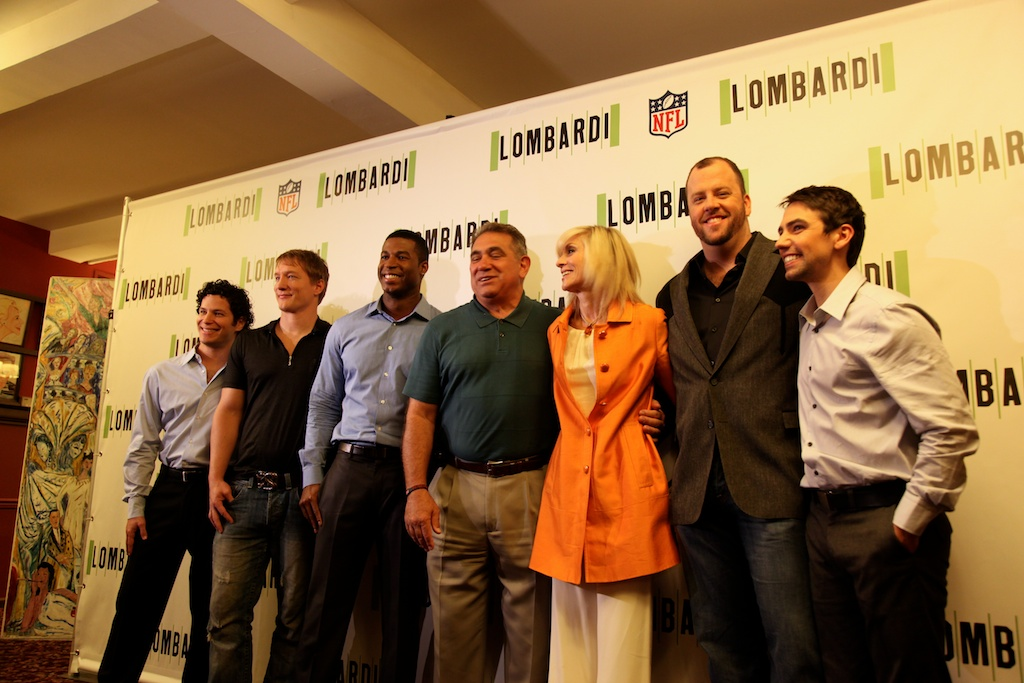 <div class='photo-info'><span class='counter'>4 of 11</span>Posted Sep 09, 2010</div><div class='photo-title'>Cast and Director of Lombardi on Broadway</div><div class='photo-body'>(from left to right) Thomas Kail (director), Bill Dawes (Paul Hornung), Robert Christopher Riley (Dave Robinson), Dan Lauria (Vince Lombardi), Judith Light (Marie Lombardi), Chris Sullivan (Jim Taylor), Keith Nobbs (Michael McCormick)</div>