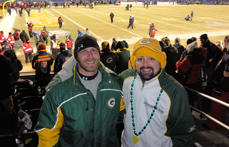 <div class='photo-info'><span class='counter'>2 of 49</span>Posted Jan 25, 2011</div><div class='photo-title'>@WallyPingel and @coreybehnke after packers Win</div><div class='photo-body'>Wally and Corey after Packers Win</div>