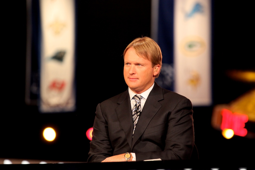 <div class='photo-info'><span class='counter'>18 of 50</span>Posted Apr 29, 2011</div><div class='photo-title'>Jon Gruden</div><div class='photo-body'>Jon Gruden at the 2011 NFL Draft at Radio City Music Hall on April 28, 2011 in New York, NY</div>