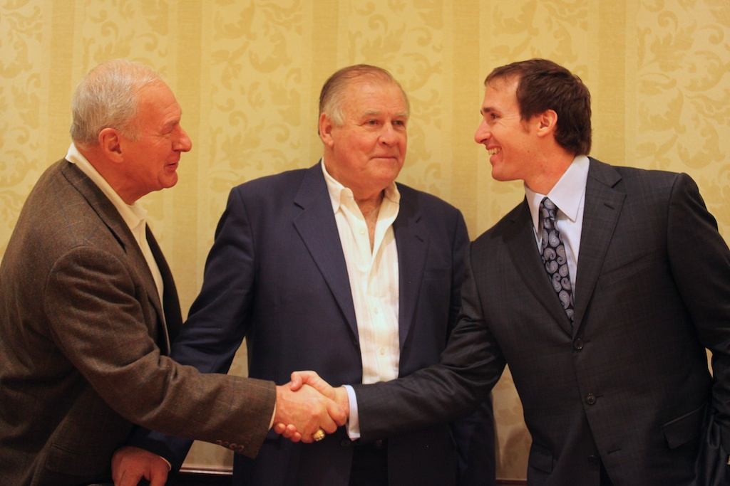 Chuck Mercein, Jerry Kramer & Drew Brees