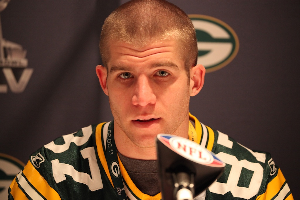 <div class='photo-info'><span class='counter'>36 of 42</span>Posted Feb 03, 2011</div><div class='photo-title'>Jordy Nelson</div><div class='photo-body'>Super Bowl Day 4 with the Green Bay Packers. Thursday Feb 3rd 2011</div>