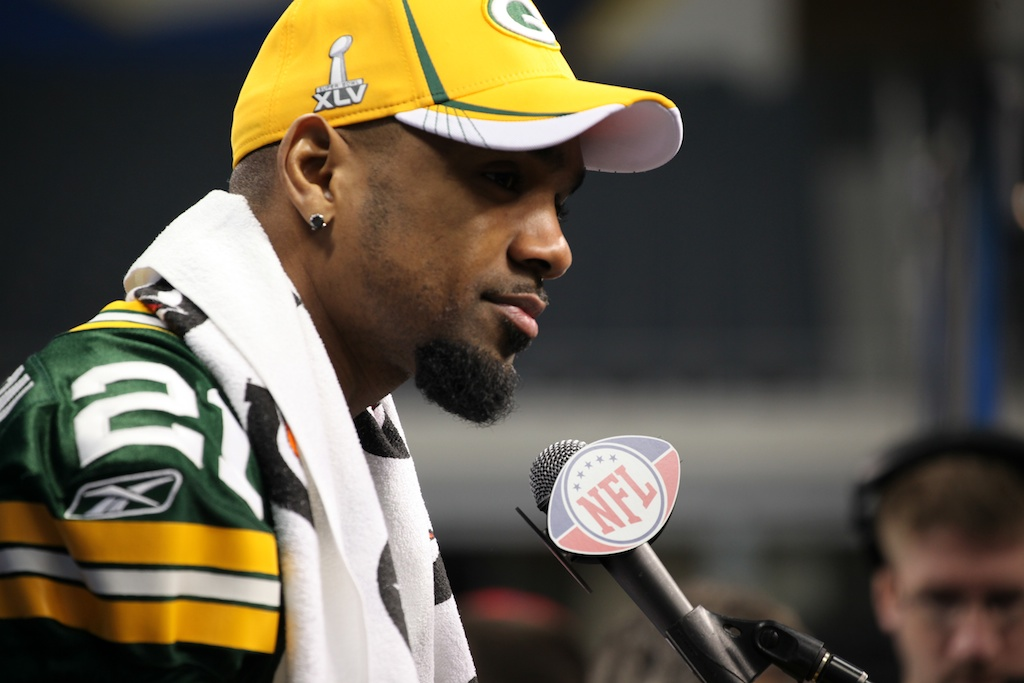 <div class='photo-info'><span class='counter'>83 of 136</span>Posted Feb 01, 2011</div><div class='photo-title'>Charles Woodson</div><div class='photo-body'>Superbowl Media Day with the Green Bay Packers. Tuesday Feb 1st 2011</div>