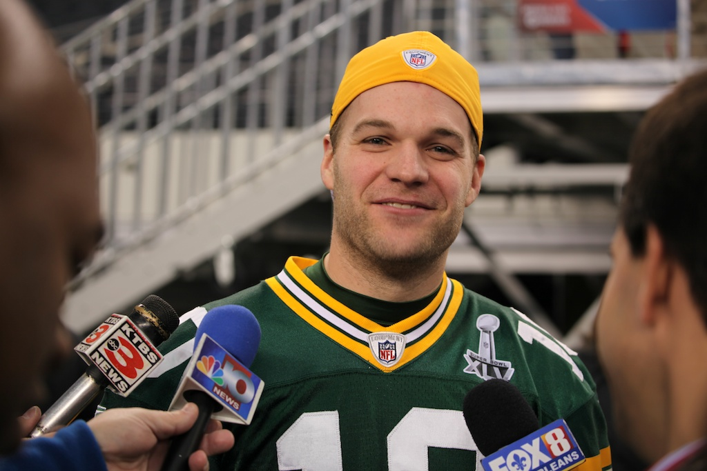 <div class='photo-info'><span class='counter'>92 of 136</span>Posted Feb 01, 2011</div><div class='photo-title'>Matt Flynn</div><div class='photo-body'>Superbowl Media Day with the Green Bay Packers. Tuesday Feb 1st 2011</div>