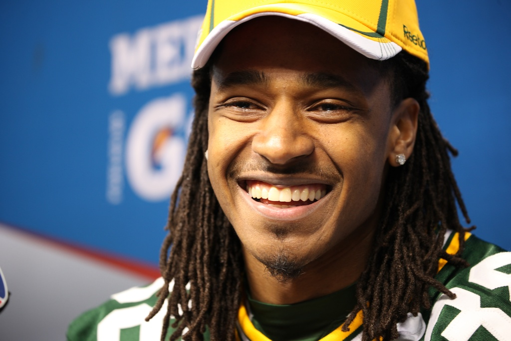 <div class='photo-info'><span class='counter'>118 of 136</span>Posted Feb 01, 2011</div><div class='photo-title'>Tramon Williams</div><div class='photo-body'>Superbowl Media Day with the Green Bay Packers. Tuesday Feb 1st 2011</div>