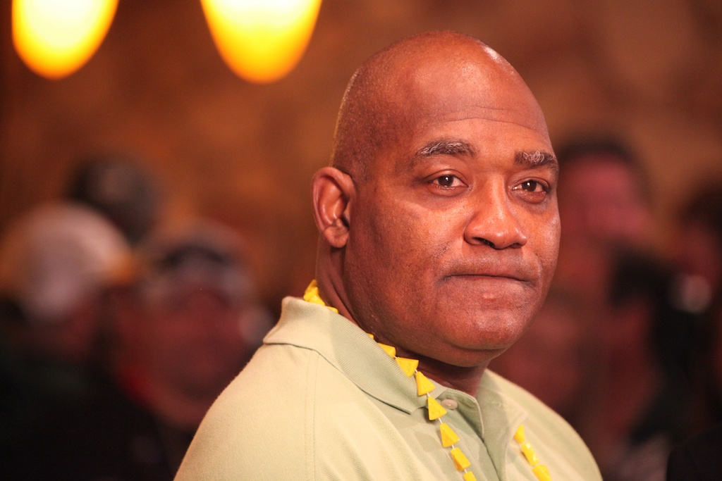 <div class='photo-info'><span class='counter'>17 of 22</span>Posted Feb 08, 2011</div><div class='photo-title'>Packer Legend Johnnie Gray</div><div class='photo-body'>Johnnie Gray waits to tape his show during a break taping the WLUK Superbowl show at the Great Wolf Lodge on Feb 4th 2011.</div>