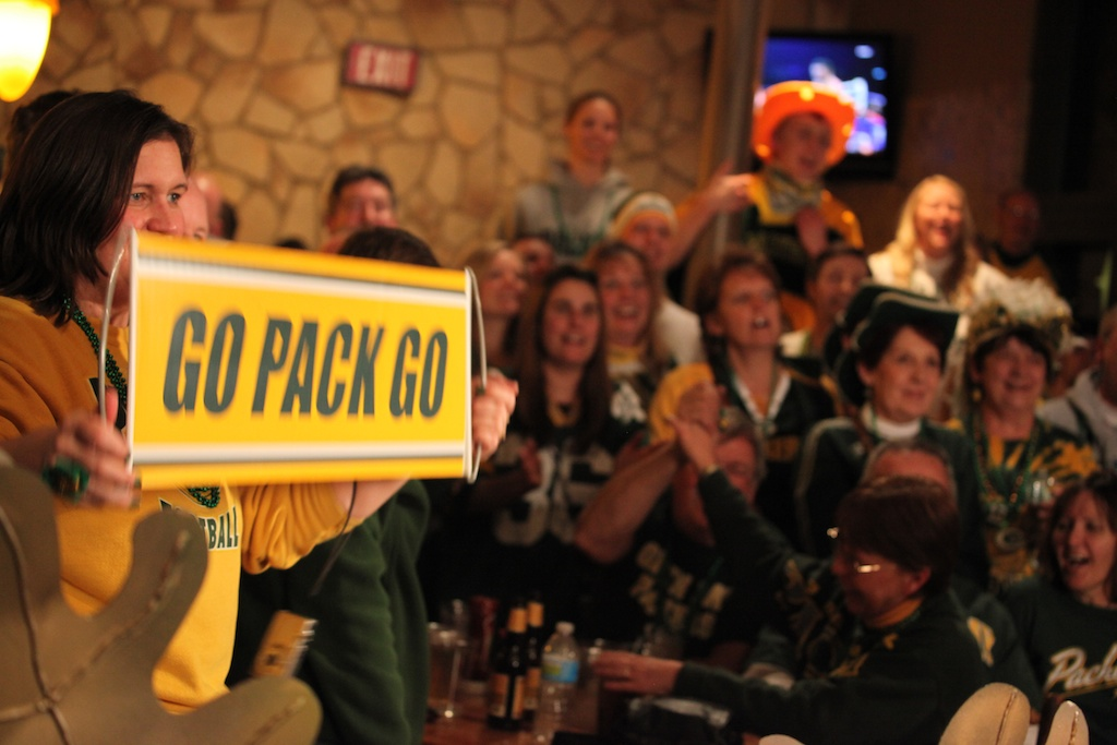 <div class='photo-info'><span class='counter'>21 of 22</span>Posted Feb 08, 2011</div><div class='photo-title'>Great Wolf Lodge Super Bowl Packer Fans</div><div class='photo-body'>The background of hardcore Packer fans for the taping of WLUK Superbowl show at the Great Wolf Lodge on Feb 4th 2011.</div>
