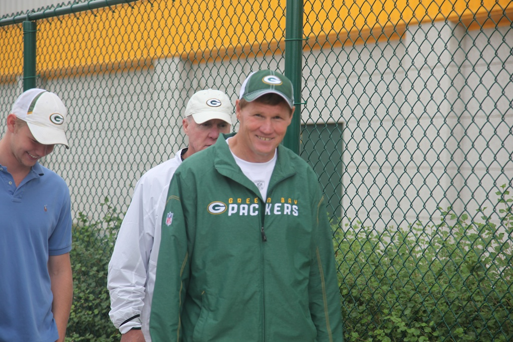 Mark Murphy and Ted Thompson at the end of Day 1 practice