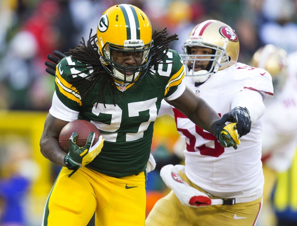 Green Bay Packers running back Eddie Lacy by Jeff Hanisch—USA TODAY Sports.