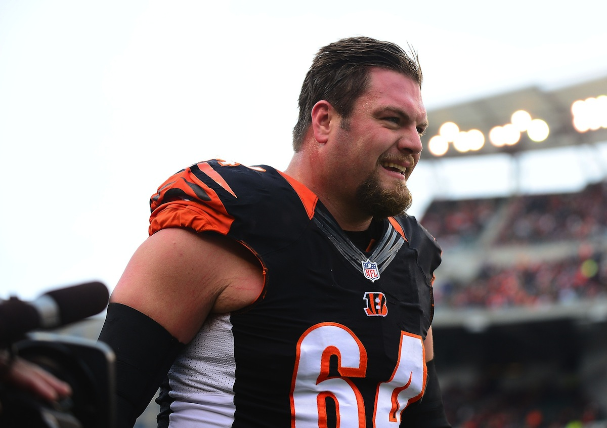 Free agent center Kyle Cook started 66 games for the Cincinnati Bengals the past six seasons. Photo by  Andrew Weber—USA TODAY Sports.