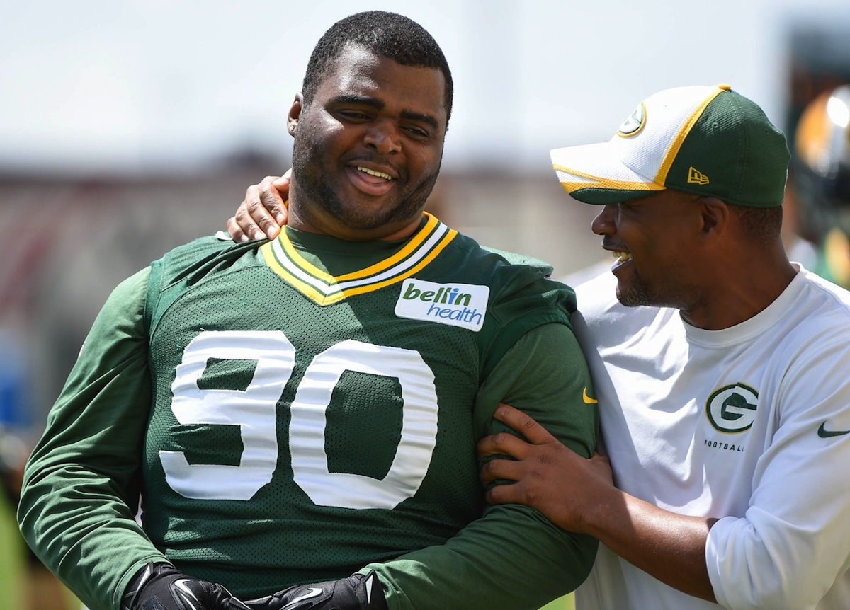 Green Bay Packers defensive lineman B.J. Raji by Benny Sieu—USA TODAY Sports.