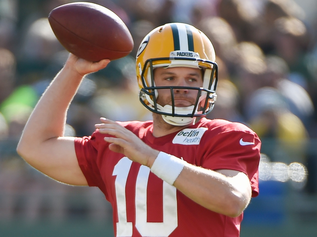 Green Bay Packers quarterback Matt Flynn by Benny Sieu—USA TODAY Sports.