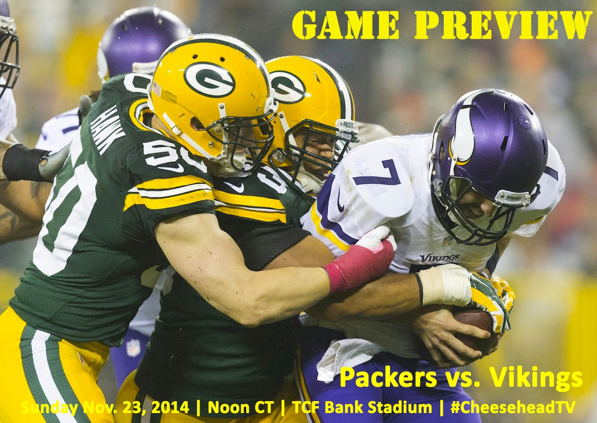 A.J. Hawk and Nick Perry tackle Christian Ponder by Jeff Hanisch—USA TODAY Sports. Graphic design by Brian Carriveau—CheeseheadTV.com.