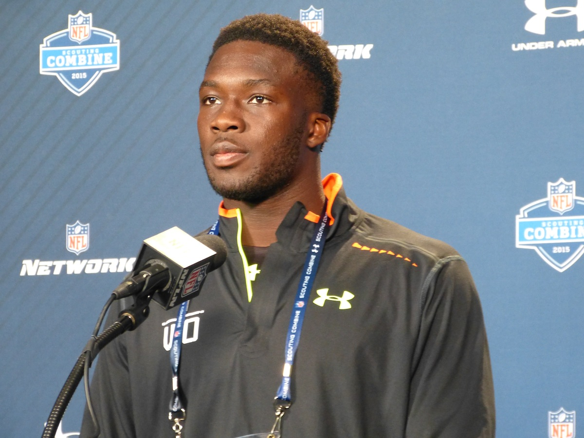 USC wide receiver Nelson Agholor at the NFL Combine—Brian Carriveau, CheeseheadTV.com.