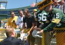 Roger Goodell signs autographs for Alex Tallitsch and Max Ginsberg